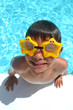 Boy at aqua park