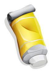 A topview of a yellow tube