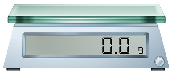 A digital weighing scale