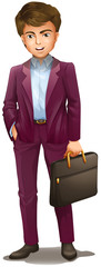 A man holding a suitcase