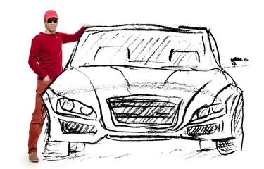 man dream car