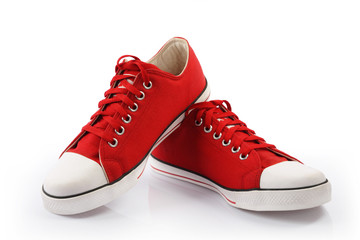 Red Canvas Shoes