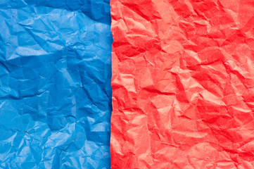 Colorful crumpled papers