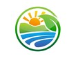 global nature logo plant symbol,sun power,energy solar icon - 65922283