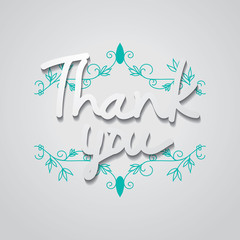 "Typo vector with word ""Thank you"""