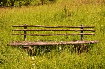 Holzbank für Wanderer
