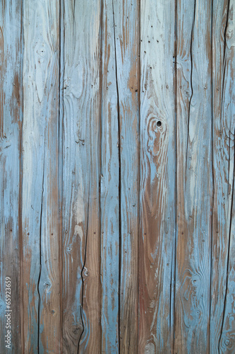 old blue wood wall - 65923659