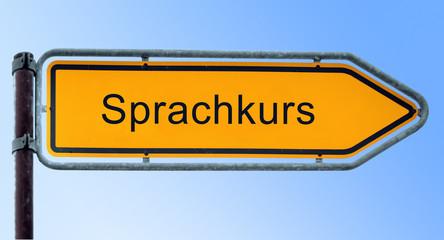 Strassenschild 6 - Sprachkurs