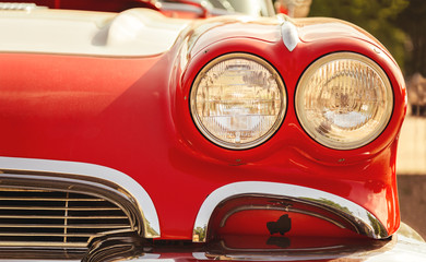 retro car headlights © determined