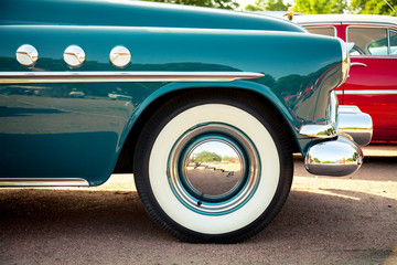 classic car wheel