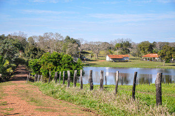 Flooded farm, Mato Grosso do Sul (Brazil)