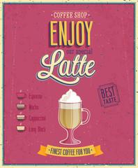 Vintage Latte Poster.