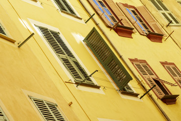 Building facade, the old Nice