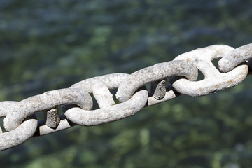 Galvanized chain, mooring line