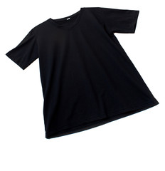 Black tshirt template ready for futher modification on white