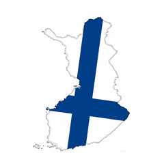 Finland flag icon map