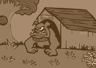 Bull dog home vintage