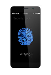 Finger authentication security system for smartphone