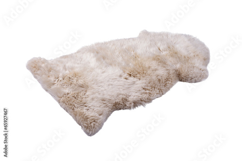 soft fur carpet isolated on white background - 65927467