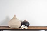 Fototapety Vases decorated with Frangipani flower