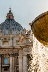 St Peter's Basilica Cathedral architecture detail fountain