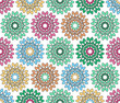 colorful flowered pattern