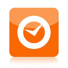 Check mark or clock icon