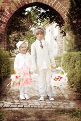 Blumenkinder bei einer Hochzeit