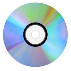 Blank CD for computer isolated on white