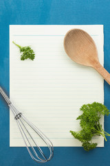 Blank notepad paper for your recipes