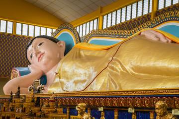 Liegender Buddha Wat Chayamangkalaram Penang Georgetown