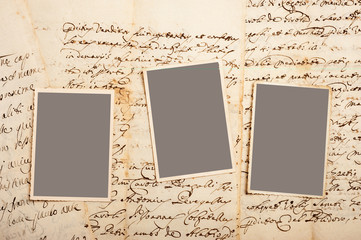 Old letters with pictures
