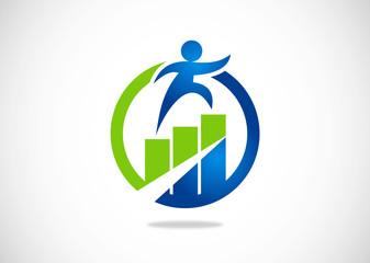 success chart grow logo