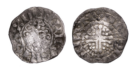 Henry III short cross penny obverse and reverse
