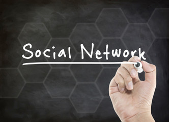 social network with hand writing
