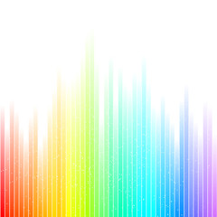 Colorful waves with spectral colors