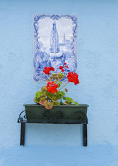 Virgin mary on the walls of Burano, Venice, Italy