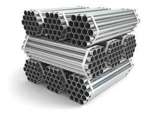 Metal pipes. Steel industry