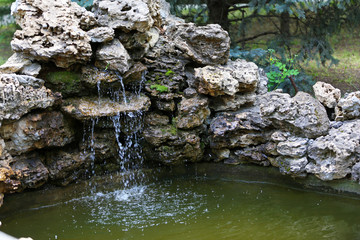 Decorative pond in park