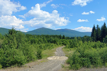 Second Bugor Mount and Third Bugor Mount in Northern Ural
