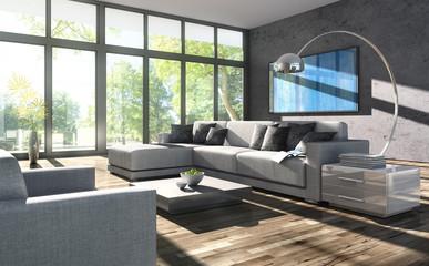 Sofa vor Terassenfenster 3