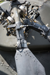 helicopter tail rotor detail