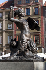 Mermaid statue in Warsaw.