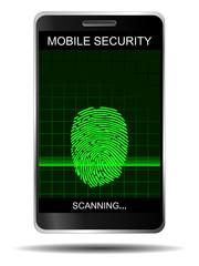 Smartphone Fingerabdruck