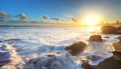 Houle sur les plage de La Réunion.