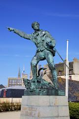 Monument to Robert Surcouf. Saint-Malo, France