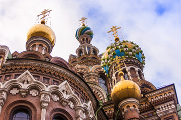 St. Petersburg, Russia. Architecture of the Savior on Blood