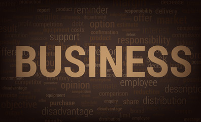 Business related words cloud background