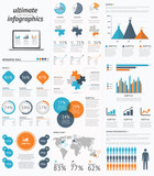 Ultimate infographic elements set with minimal easy designs