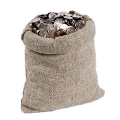 Bag of money. Isolated on white